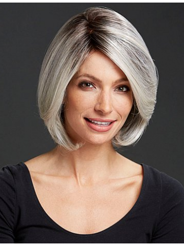 Lace Front Short Wavy gray Synthetic Hair Wig, gray Hair Wigs