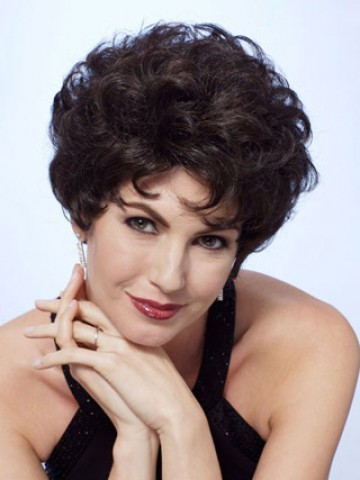 Short Curly Lace Front Remy Human Hair Wig Full Lace Wigs Human Hair P4