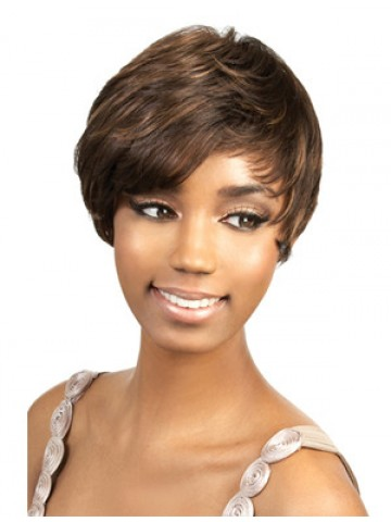 Sweep Short Synthetic African American Wig