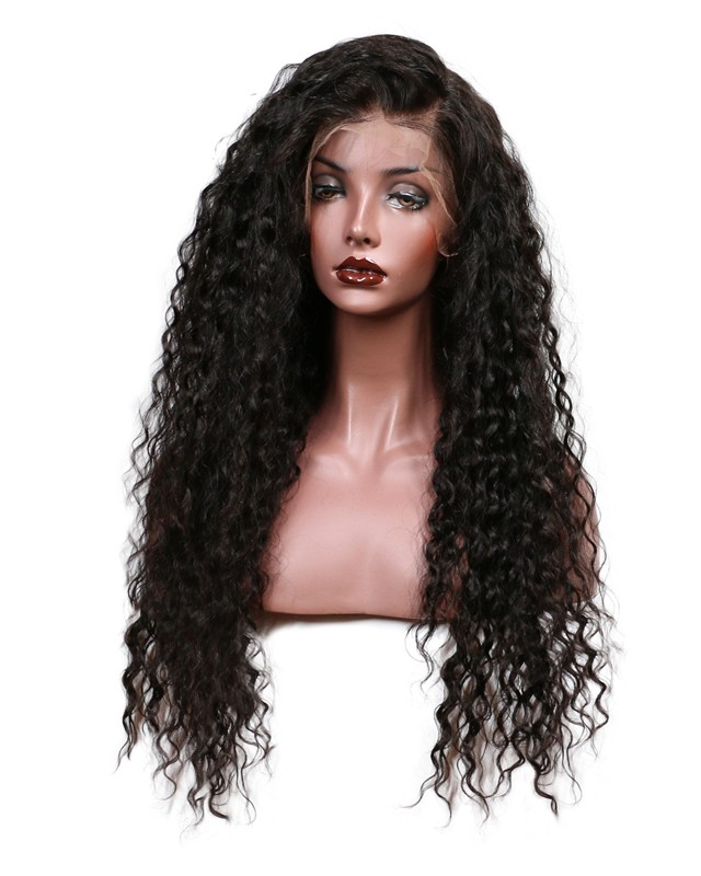 150% Density Loose Curly Lace Front Human Hair Wigs For Black ... 0746324a5
