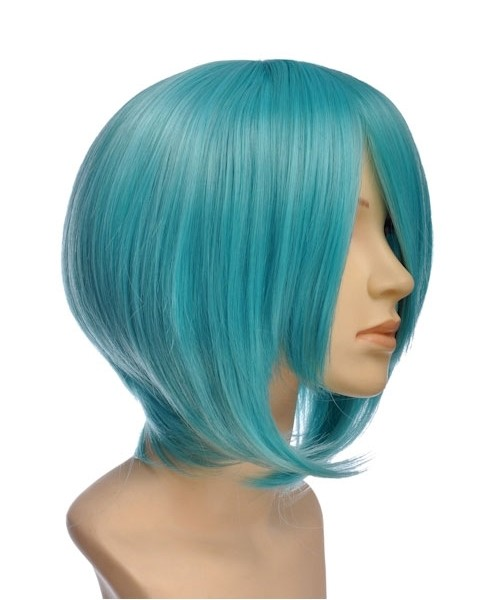 findi short teal wig cosplay