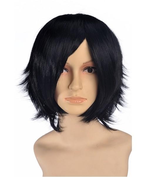 Hersian Short Black Wig Cosplay, Kingdom Hearts Cosplay | P4
