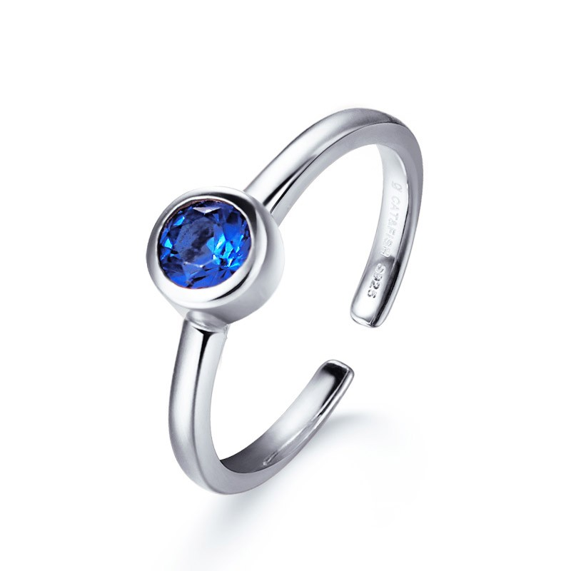 925 sterling silver fashionable zircon index finger ring