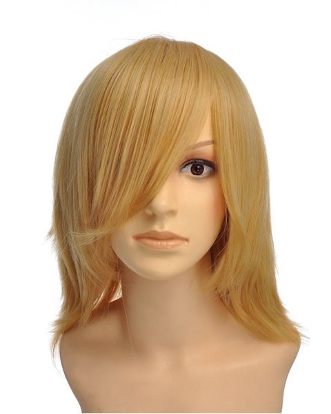 Morys Short Blonde Wig Cosplay Halloween Wigs P4