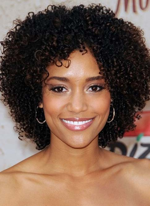 Best Natural Thick Curly Short African American