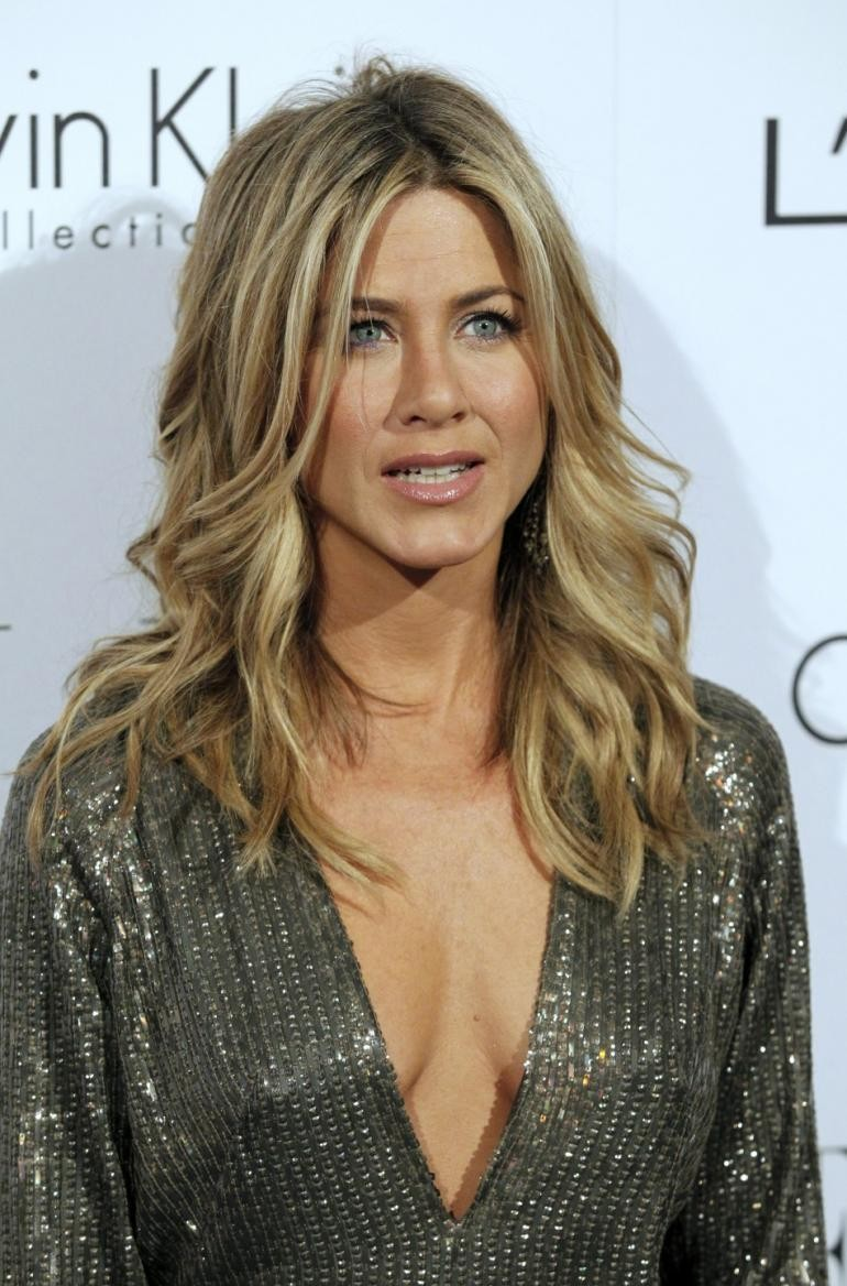 Jennifer Aniston Lace Front Wavy Synthetic Hair Wig Celebrity Wigs