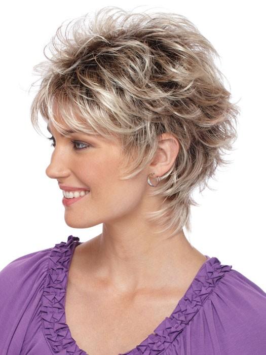 Capless Wavy gray Short Synthetic Hair Wig, gray Hair Wigs
