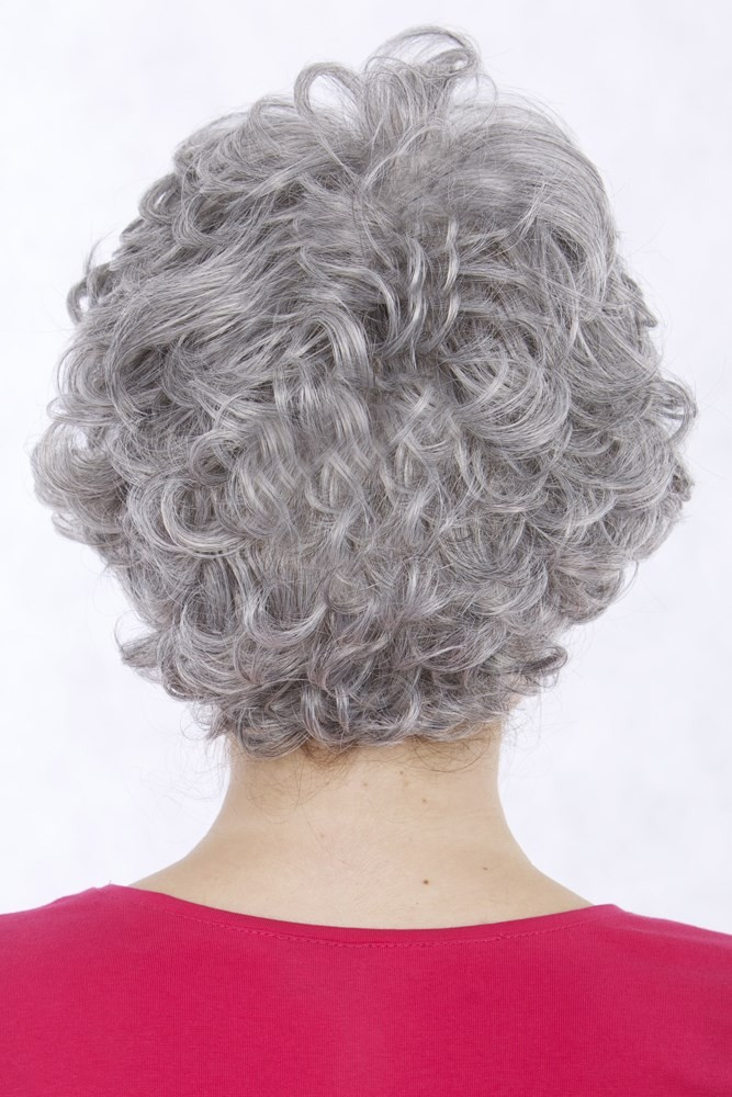 Capless Grey Short Curly Synthetic Hair Wig Grey Wigs