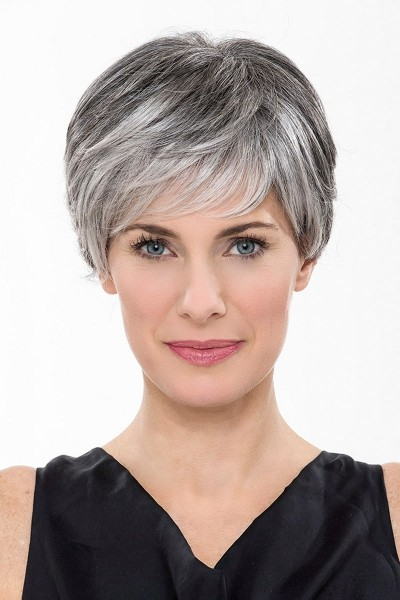 capless grey short straight synthetic hair wig grey wigs