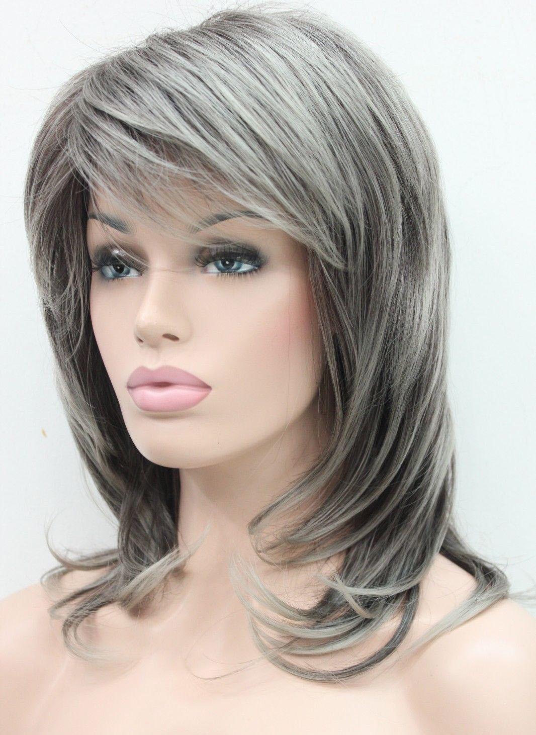 Fashion Stylish Dark Brown Medium Wavy Women Daily Wig