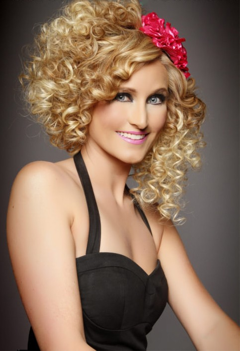 Fun Curly Hairstyle For Summer Wig, Synthetic Wigs For Women
