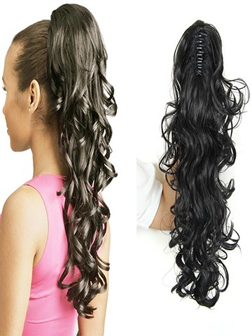 Long Women s Synthetic Curly Claw Clip Ponytail Hairpiece df35e1234