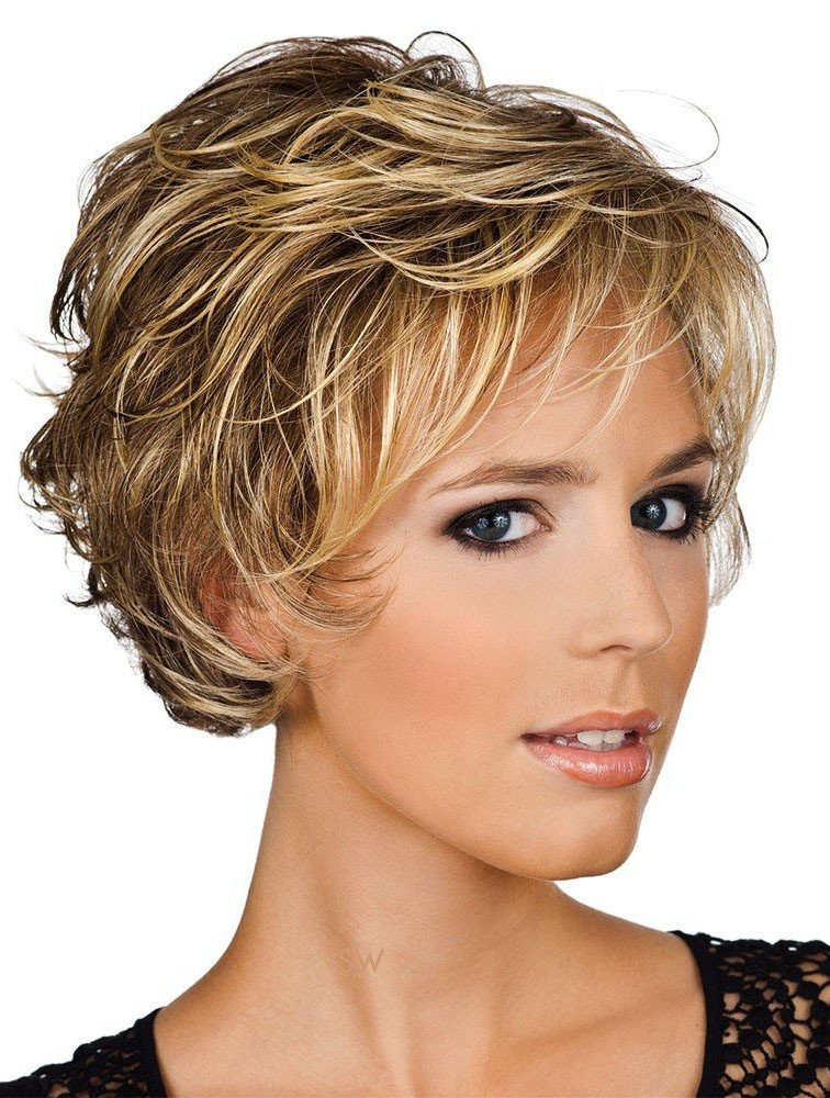Preferential Blonde Wavy Short Human Hair Wigs