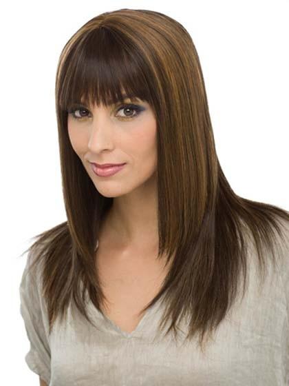 Capless Long Straight Human Hair Wig, Human Hair Wigs Men - P4