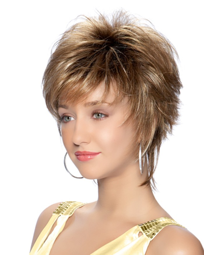 Short Choppy Layers Ladies Wig, Lace Front Wigs Nyc