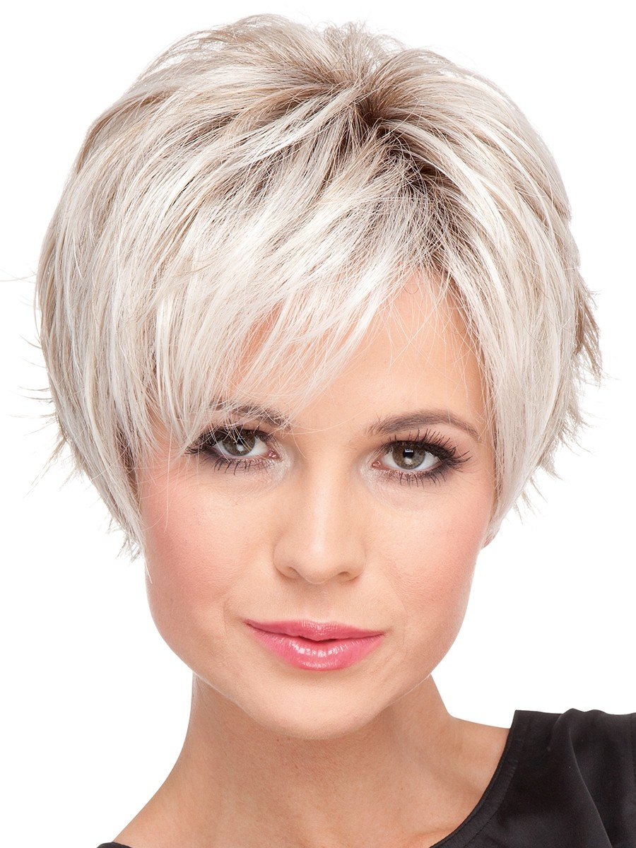Wigs Short Straight Blonde Colorful Cheap Wigs