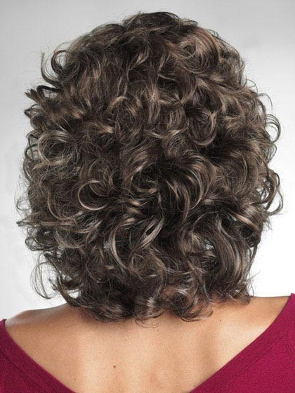 Soft Bouncy Wavy Synthetic Mid Length Wig Cheap Lace Wig P4