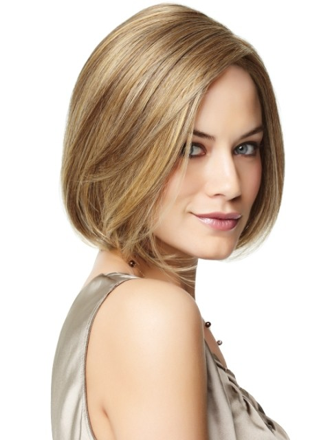 Easy Short Hair Wig For Long Faces, Full Silk Lace Wigs | P4