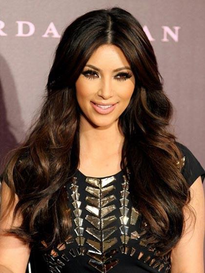 Kim Kardashian Centre Parting Long Wavy Wig Diva Lace Front Wigs P4