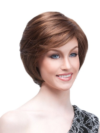 short hair elegant styles cropped wig with side swept fringe 2534 | wwk274 01
