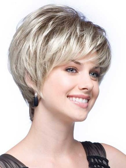 Short Tapered Synthetic Lace Front Grey Wig  6f506476c29f