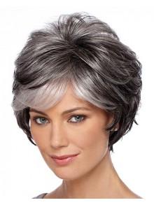 Gray wigs gray hair wigs short gray wigs c4 capless wavy short gray synthetic hair wig urmus Gallery