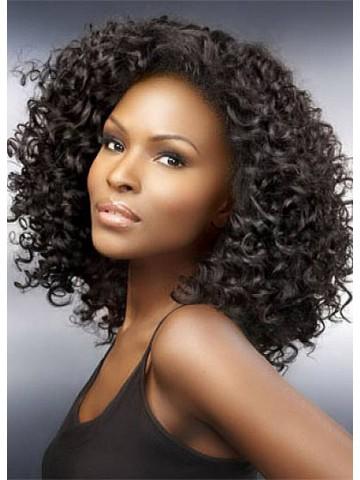medium capless curly remy human hair wig human hair wigs sale