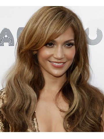 Jennifer Lopez Long Wavy Hair Wig Human Lace Front Wigs