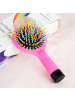 Fashion Rainbow Brush Perm Wave Straight Beauty Comb with Mirror