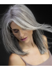 Long Lace Front Straight Gray Synthetic Hair Wig