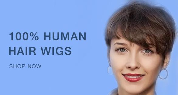 100% Human Hair Wigs